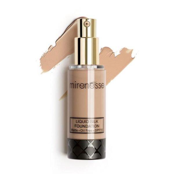 Mirenesse Liquid Silk Oil Free Matte Long Wear Foundation 25. Bronze 35g
