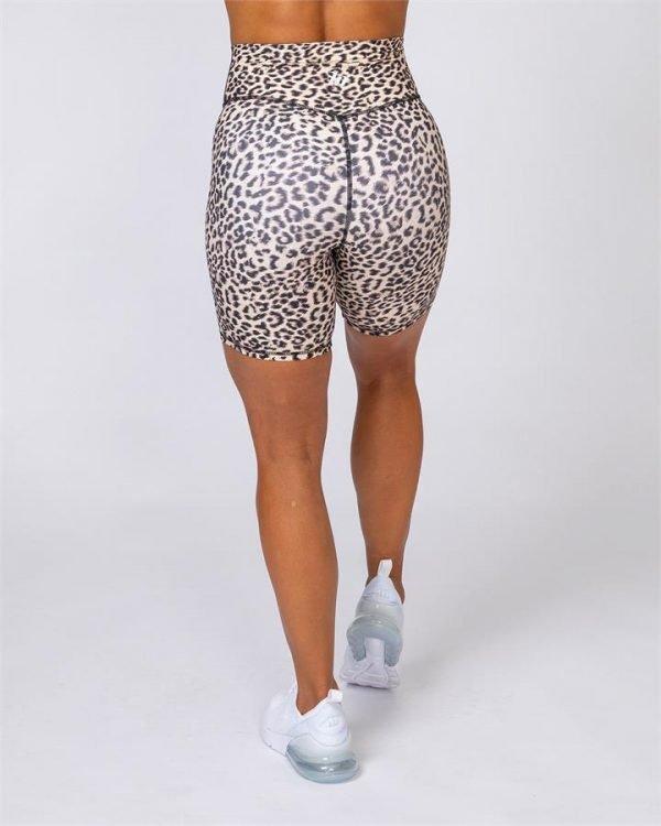 Motion Bike Shorts - Yellow Leopard - L