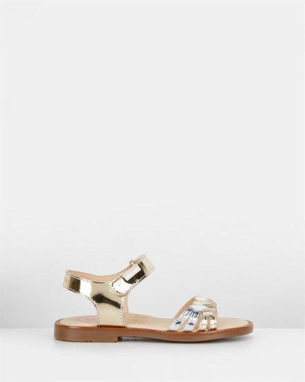 Mul Plait Sandal G 456785 Yth Mirror Champagne