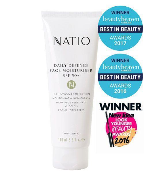 Natio Daily Defence Face Moisturiser SPF 50+ 100ml