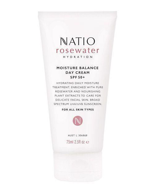 Natio Rosewater Hydration Moisture Balance Day Cream SPF 50+ 75ml