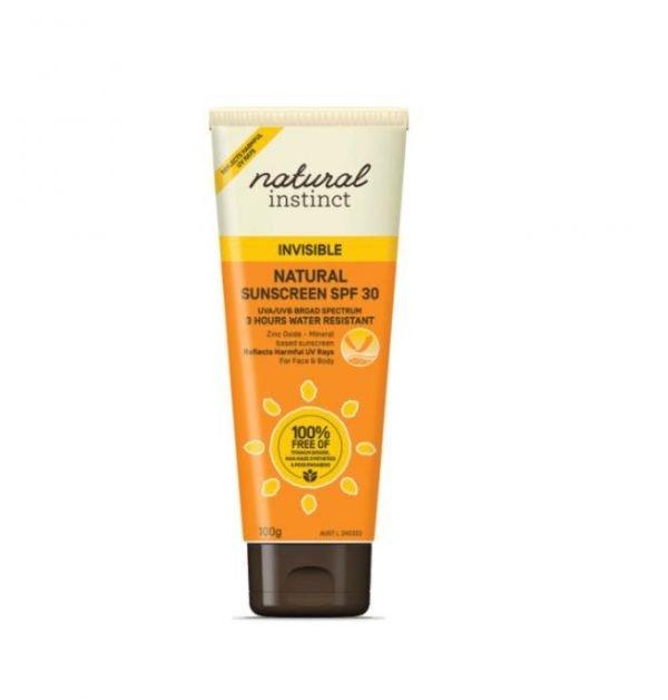Natural Instinct Natural Sunscreen SPF 30 Invisible 100g
