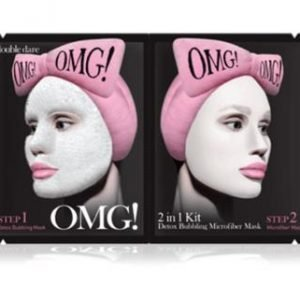 OMG 2 In 1 Detox Bubbling Microfibre Mask