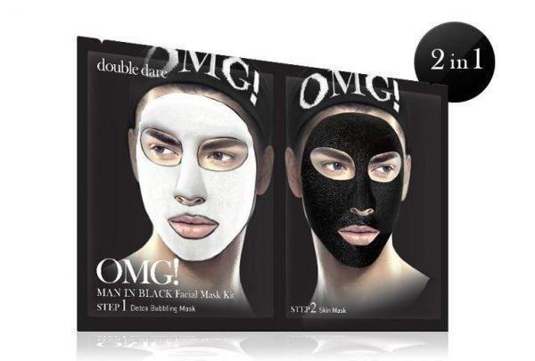 OMG Man In Black Facial Mask