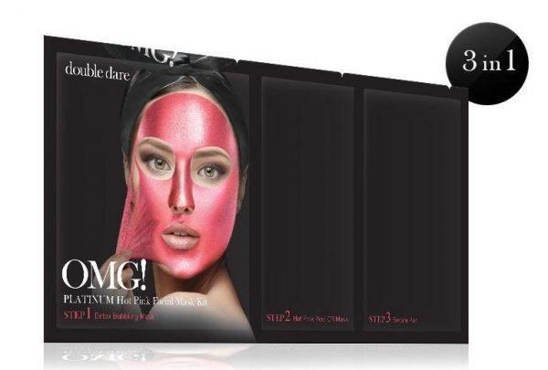 OMG Platinum Hot Pink Facial Mask Kit