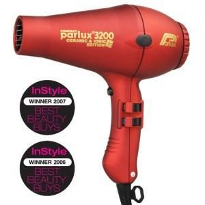 Parlux 3200 Ionic + Ceramic Compact Hair Dryer - Red