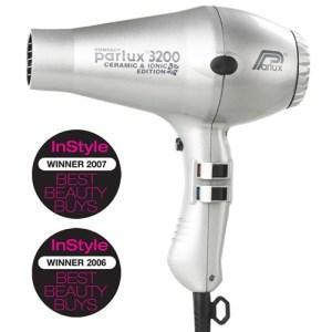 Parlux 3200 Ionic + Ceramic Compact Hair Dryer - Silver