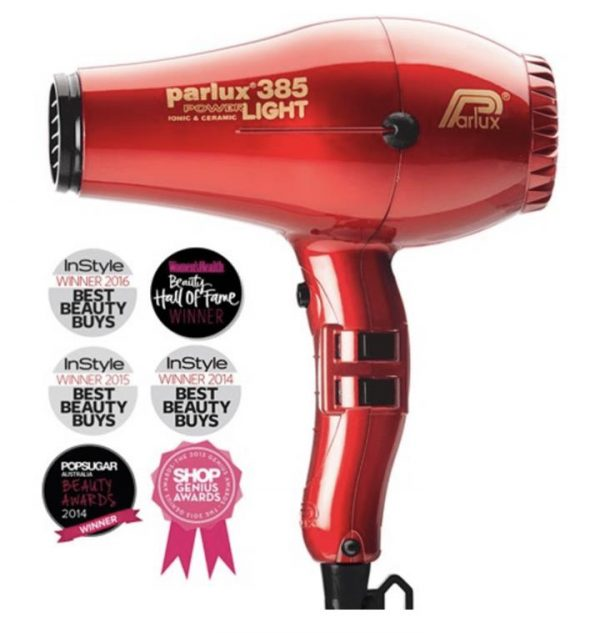 Parlux 385 Power Light Ceramic and Ionic Hair Dryer Red