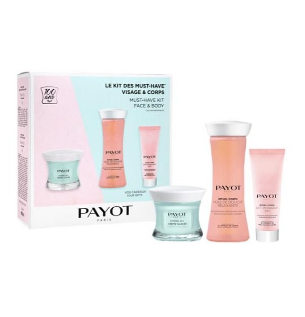 Payot Hydra24+ Crème Glacee, Body Cleanser & Lait Hydratant Trio Pack