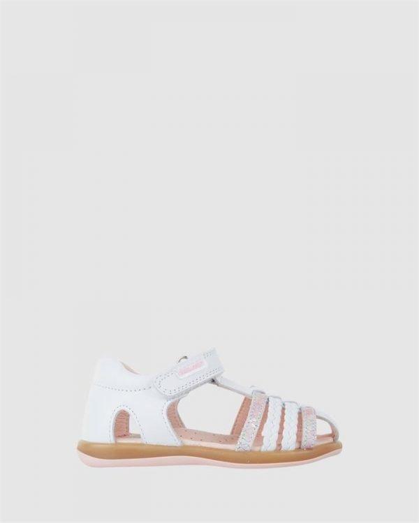 Plait Cage Sandal G 079307 Inf White/Pink