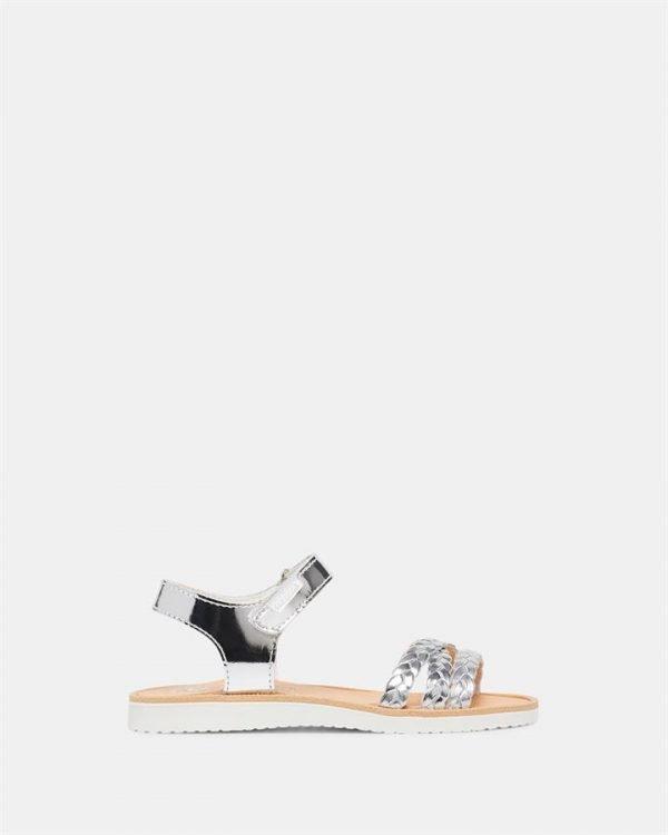 Plait Sandal G 4402 Yth Silver