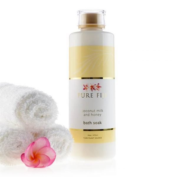 Pure Fiji Coconut Milk Bath Soak - Coconut Milk & Honey Infusion 472ml