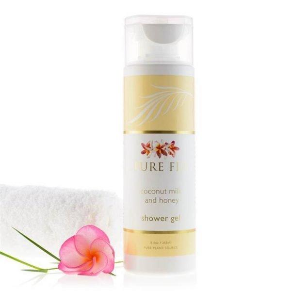 Pure Fiji Coconut Milk Shower Gel - Coconut Milk & Honey Infusion 265ml