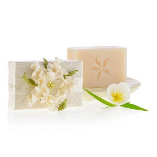 Pure Fiji Handmade Coconut Soap - Coconut Lime Blossom Infusion 100g
