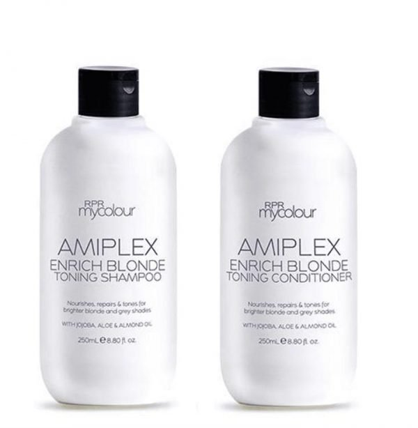 RPR Amiplex Enrich Blonde Toning Shampoo and Conditioner 250ml Duo Pack