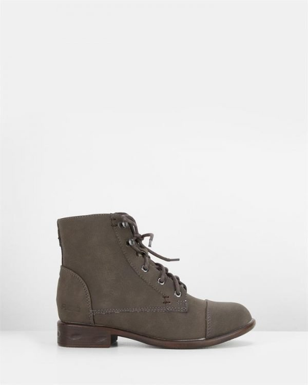 Riff Lace Up Boot Charcoal