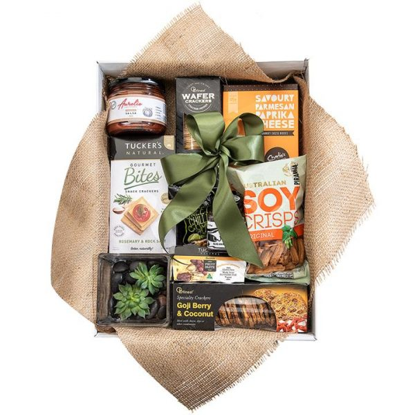 Savoury Delights and More - Gourmet with Succulent Gift