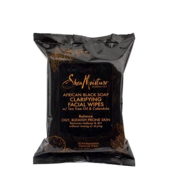 Shea Moisture African Black Soap Clarifying Facial Wipes 30pc