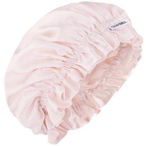 Shhh Silk Pink Silk Sleep Bonnet