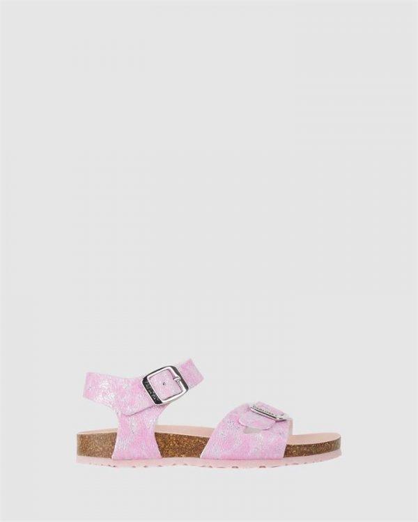 Shimmer Cork Sandal G 4834 Yth Fuchsia
