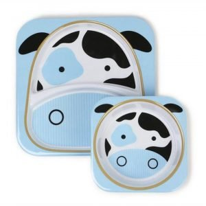 Skip Hop Zoo Cow Melamine Dinnerware