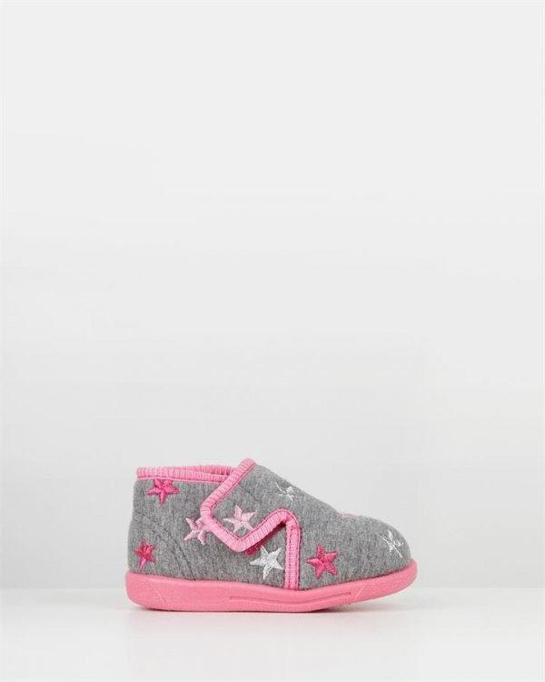 Sparkle Star Slipper Grey/Pink
