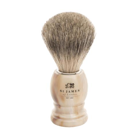 St James of London Super Badger Brush - Tawny