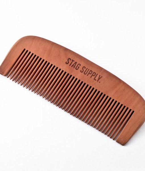 Stag Supply Wooden Beard Comb