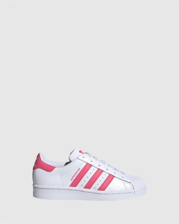 Superstar Foundation Gs G White/Super Pink