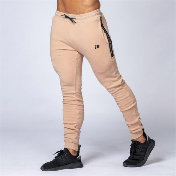 Tapered Joggers - Beige - M