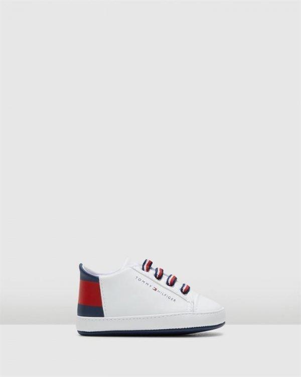 Th El Big Flag Crib White/Navy/Red
