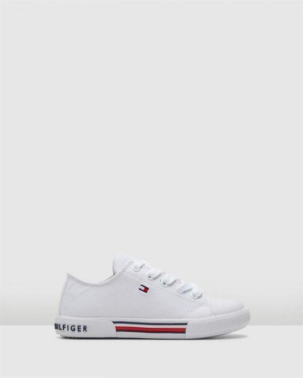 Th Lace Canvas Sneaker Ii Yth White