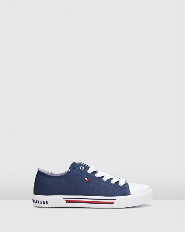 Th Lace Canvas Sneaker Navy
