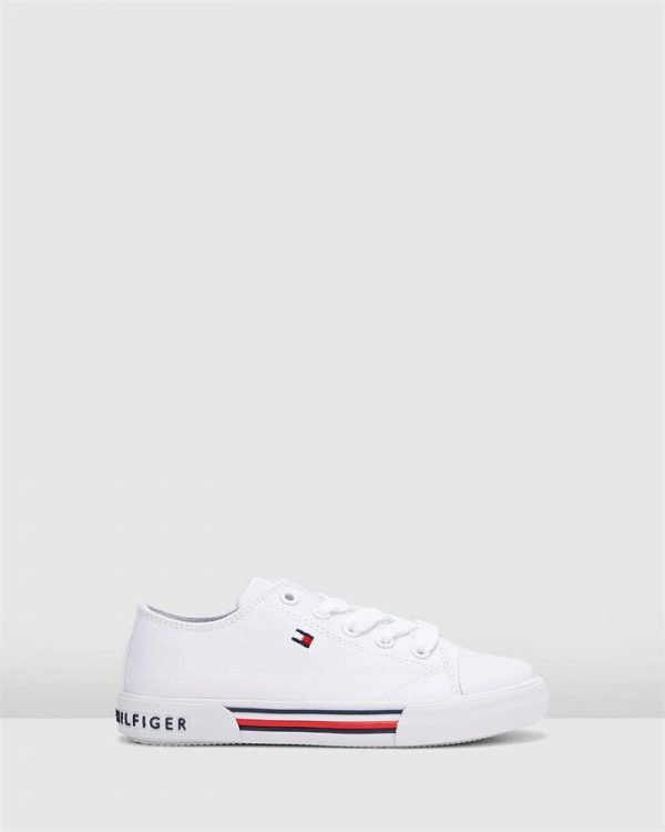 Th Lace Canvas Sneaker White