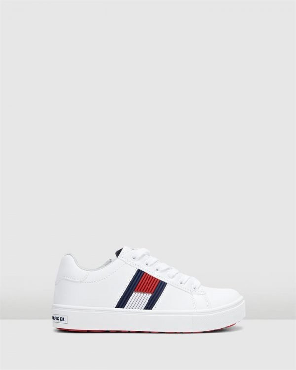 Th Lace Rubber Flag Sneaker White