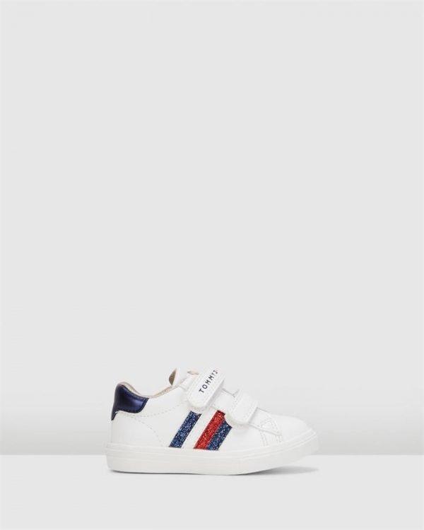 Th Sf Glitter Stripe G White