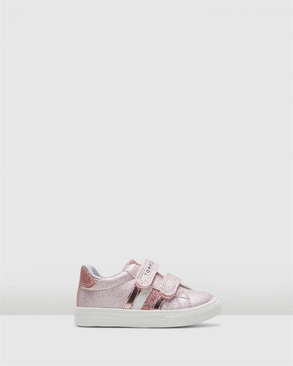 Th Sf Glitter Stripe Sneaker Pink Glitter