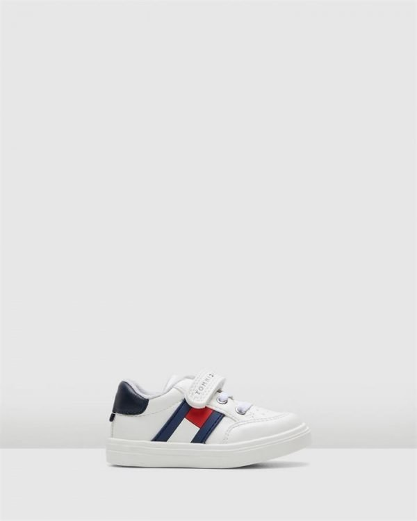 Th Sf Low Cut Flag Sneaker Inf White/Navy/Red