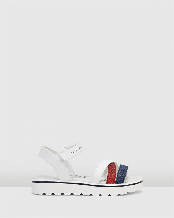 Th Sf Multistrap Sandal White/Red/Navy