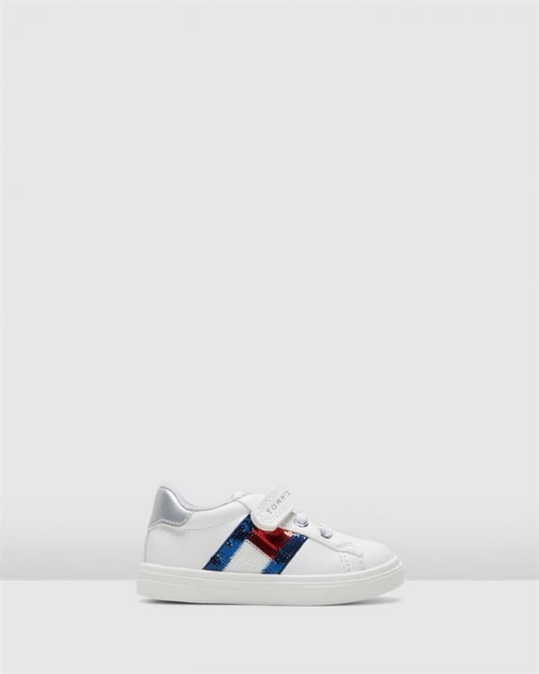 Th Sf Sequins Flag Sneaker Inf White/Navy/Red