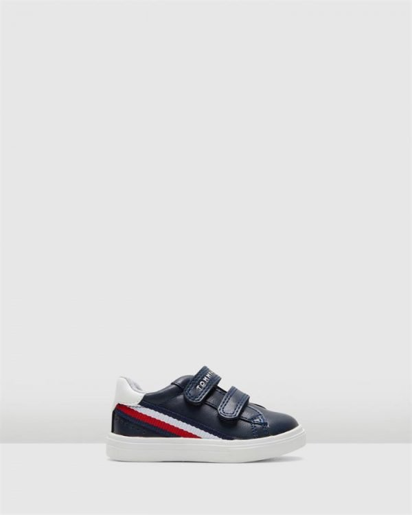 Th Sf Side Stripe Sneaker Inf Navy/Red/White