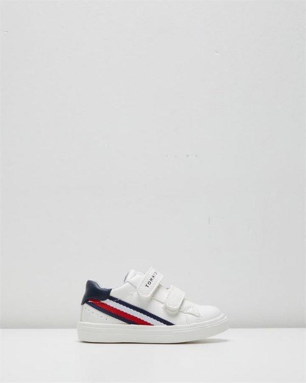 Th Sf Side Stripe Sneaker Inf White/Navy
