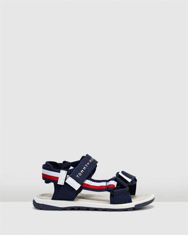 Th Sf Tape Sandal Navy/White/Red