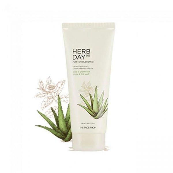 The Face Shop Herb Day 365 Master Blending Cleansing Cream - Aloe & Green Tea 170ml