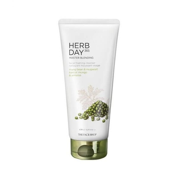 The Face Shop Herb Day 365 Master Blending Foaming Cleanser - Mung Bean & Mugwort 170ml