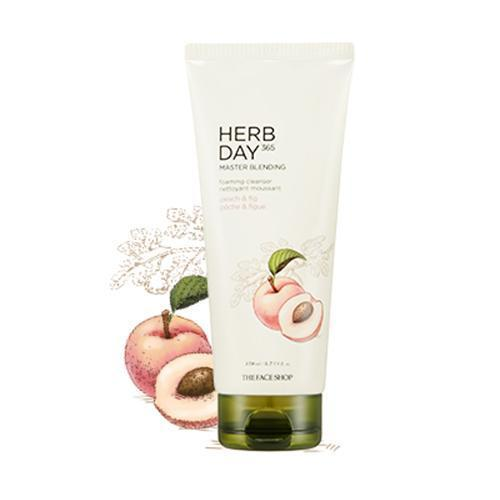 The Face Shop Herb Day 365 Master Blending Foaming Cleanser - Peach & Fig 170ml