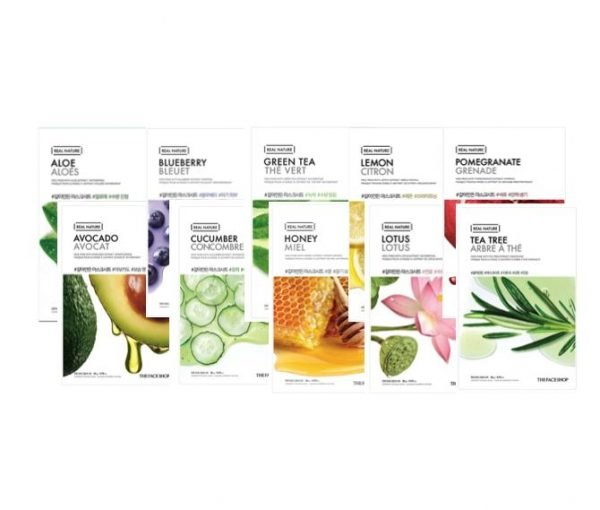 The Face Shop Moisturising + Hydrating Face Mask Pack x 10