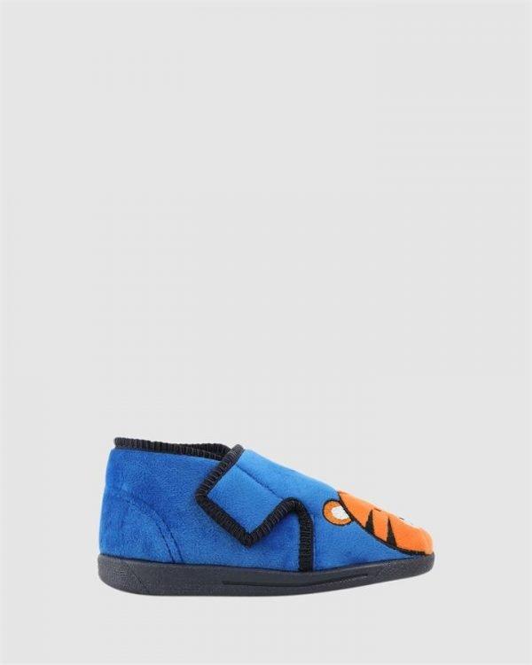 Tiger Slipper Cobalt/Orange