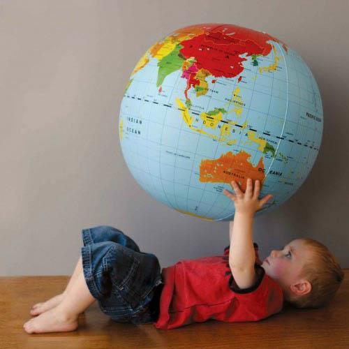 Tiger Tribe 50 cm Inflatable World Globe