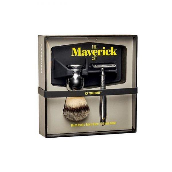 Tooletries The Maverick Premium Shave Set - Silver